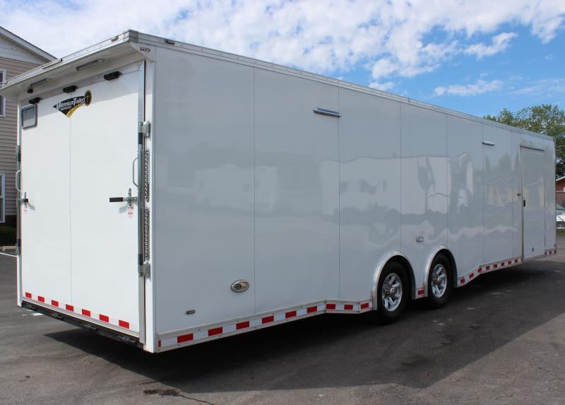 READY 4/16/21 SUPER NICE!  2021 32' Millennium Extreme 6K Spread Axles/Rear Wing Black Cabinets/ Electric Jack