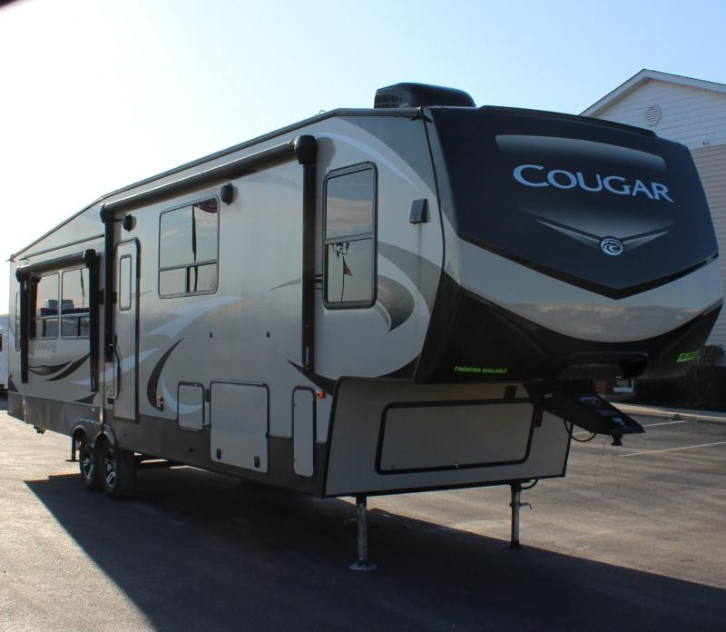 <b>IT'S A WOW! JUST ARRIVED</b>  2019 36' Cougar 5th Wheel Sleeps 10-12! LOADED