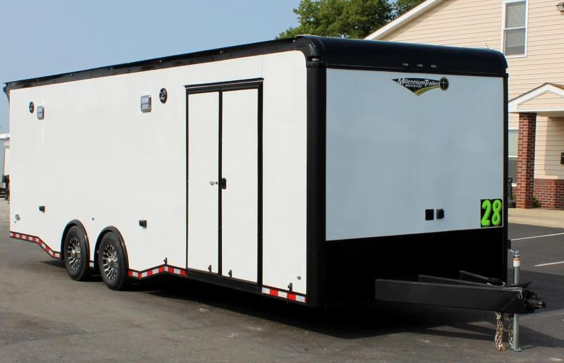 <b>IN PROCESS SPECIAL</b>  2022 28' EDGE TURBO PACKAGE BLACK OUT  CAR TRAILER