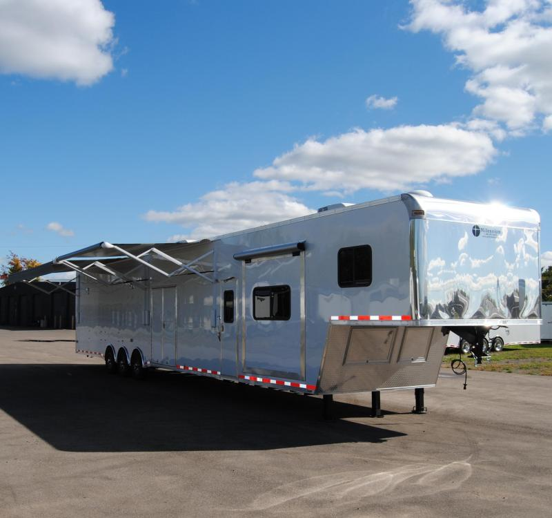 53' Millennium Gooseneck Enclosed Race Car Trailer w/14'+8' Living Quarter Slide Out