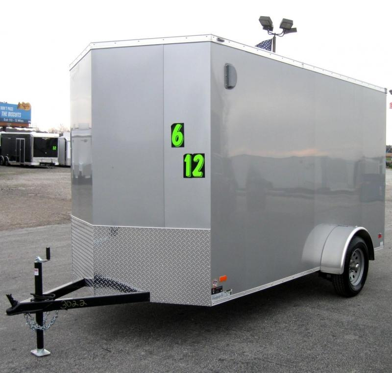 "6'x12' Scout Cargo Trailer w/Plus Package & Free Options 6"" Extra High"