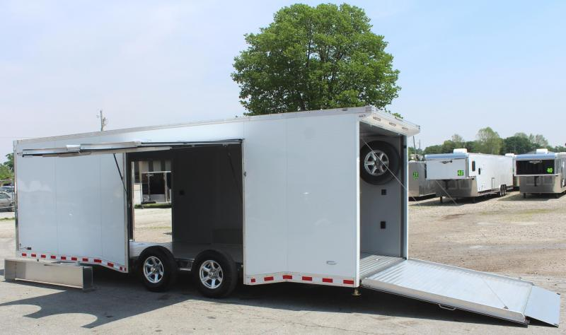 24' All Aluminum with Lrg. Escape Door w/Removable Wheel Box & Wing  & Extruded Floor