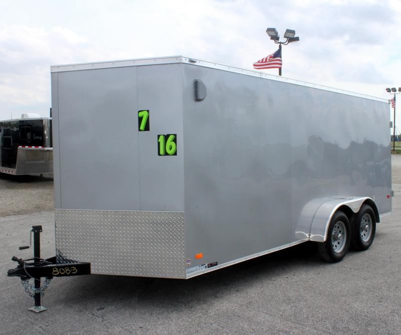 7'x16' Scout Enclosed Cargo w/Dbl. Doors Free Upgrades