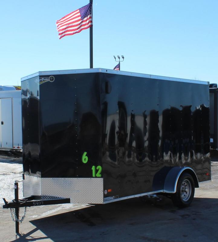 """<b>NOW AVAILABLE</b> 2021 6'x12' Hero Enclosed Cargo Trailer w/Ramp Door & 6"""" Extra Height"""