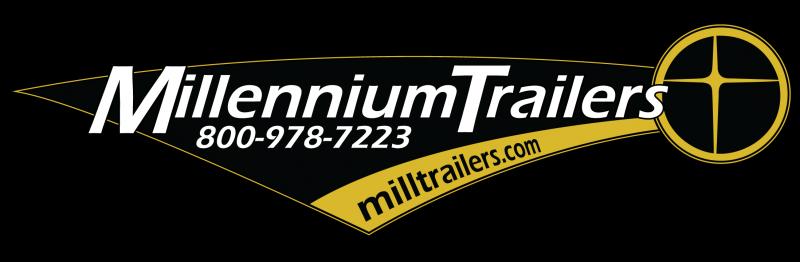 NOW READY!  2021 40' Millennium Silver Enclosed Gooseneck Trailer w/12' Sofa Living Quarters/King Size Bath
