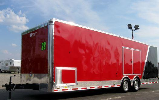Red/Black Two-Tone 28' Millennium Auto Master Race/Car Trailer