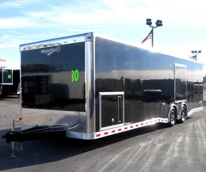 30' Millennium Extreme Race Trailer w/ Red Cabinets