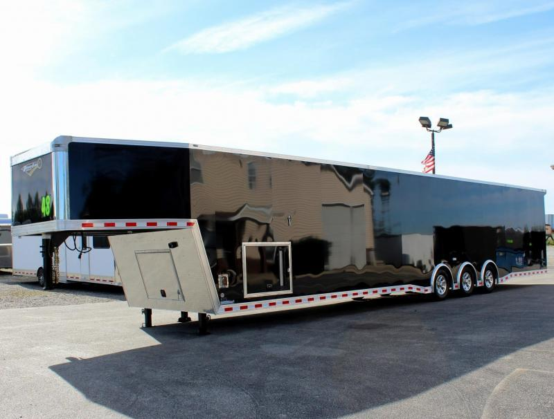 48' Millennium Extreme Gooseneck Race Trailer w/Tapered Nose/Charcoal Cabinets