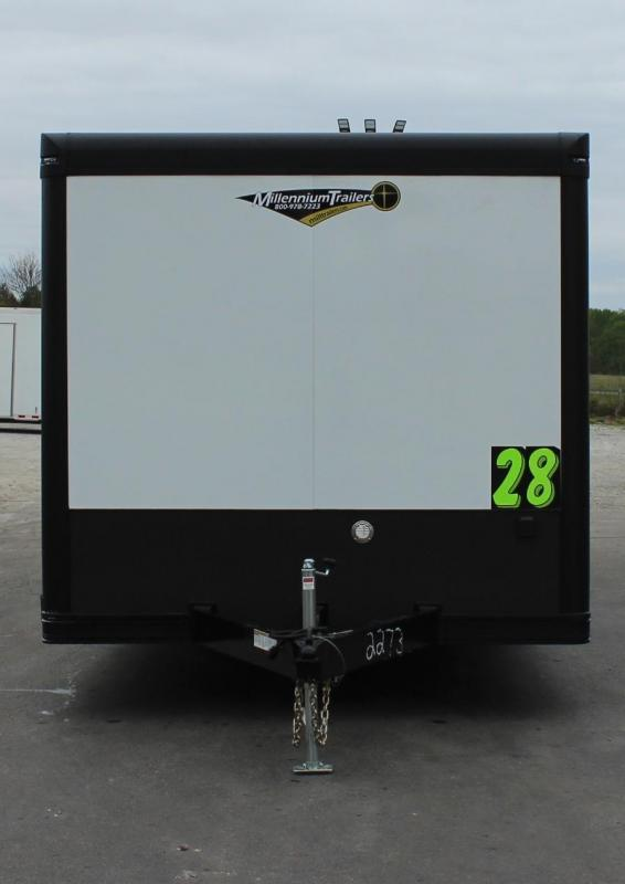 <b>SALE PENDING</b> BLACK-OUT PACKAGE 2020 28' Millennium Extreme 6K Spread Axles/Alum Walls & Ceiling