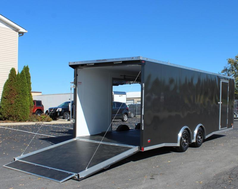 <b>SOLD & MAKING MORE</b> NEED EASY EXIT ACCESS?  2022 24' Millennium Extreme Aluminum Lite Car Hauler  w/Removable Fender/Spread Axles/Rear Wing