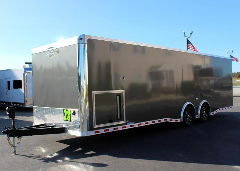 SUPER SHARP & READY 28' Millennium Extreme 6K Spread Axles/ Met. Charcoal Cabinets/Electric Jack