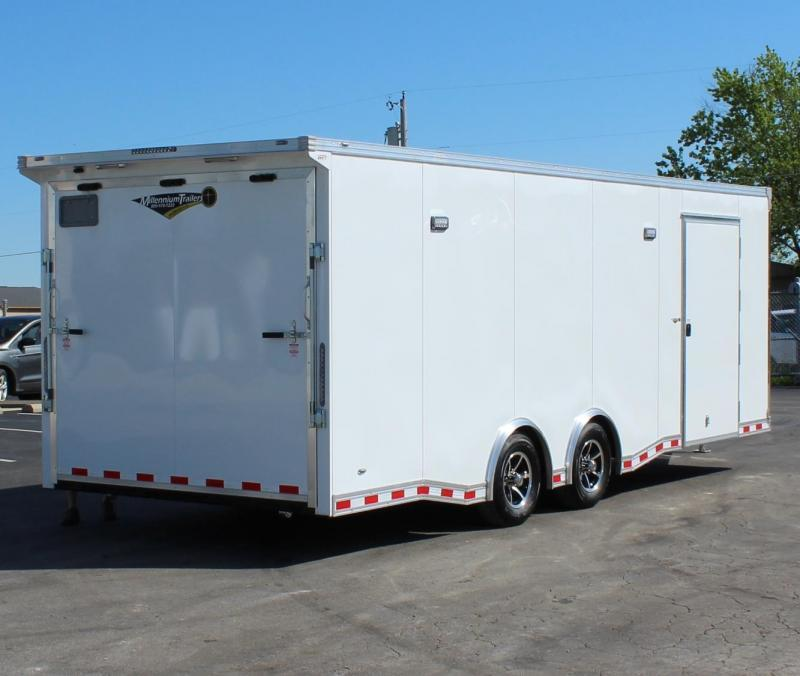 NOW READY! Easy-Exit Trailer 2021 24' White OR Black Millennium Extreme with Removable Fender  & Rear Wing