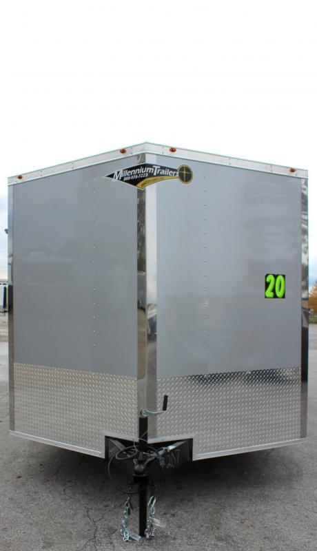 <b>IN PROCESS SPECIAL</b> 2022 20' Millennium Chrome Enclosed Race Trailer Heavy Duty Axles FREE RADIAL UPGRADE