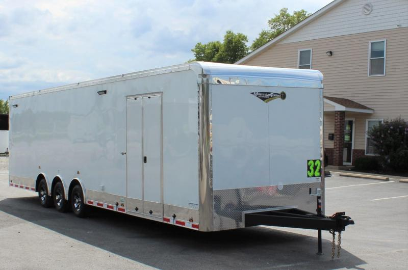 "<b>Loaded Race Ready</b> 2021 32' Millennium Auto Master Car Trailer w/12"" Extra Height"