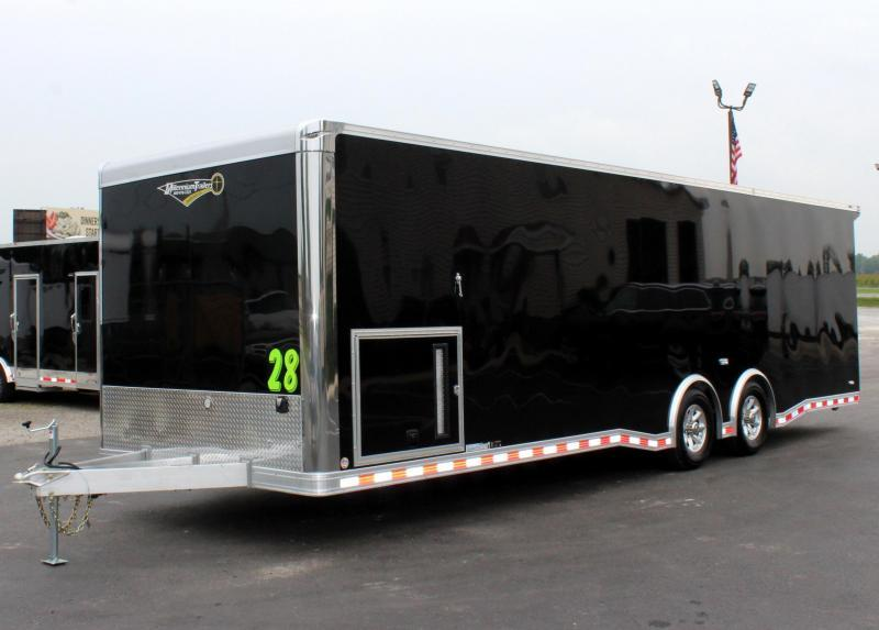 <b>READY 4/6</b> 2021 28' Millennium Extreme Lite ALUMINUM FRAME w/Blk Cabinets w/Rear Wing