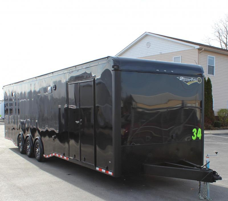 <b>IN PROCESS SPECIAL</b> TURBO PACKAGE w/BLACK OUT PKG 2022 34' Edge Race Trailer