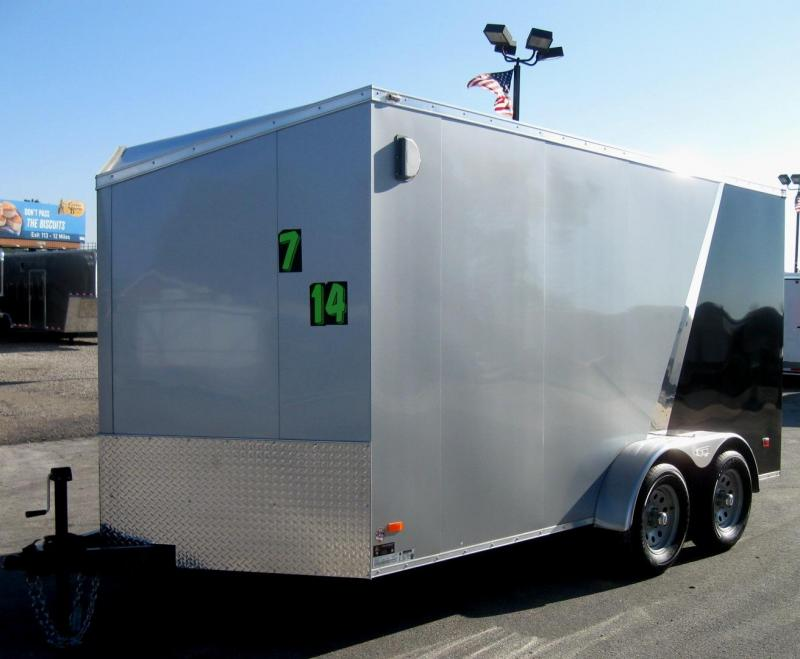 7'x14' Scout Enclosed Cargo Trailer w/Plus Pkg. & Slant Nose/6 Ext/16 OC Floor