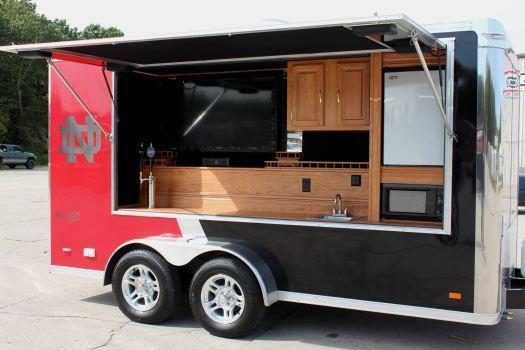 Millennium Trailers 7x14 Custom Tailgating Trailer
