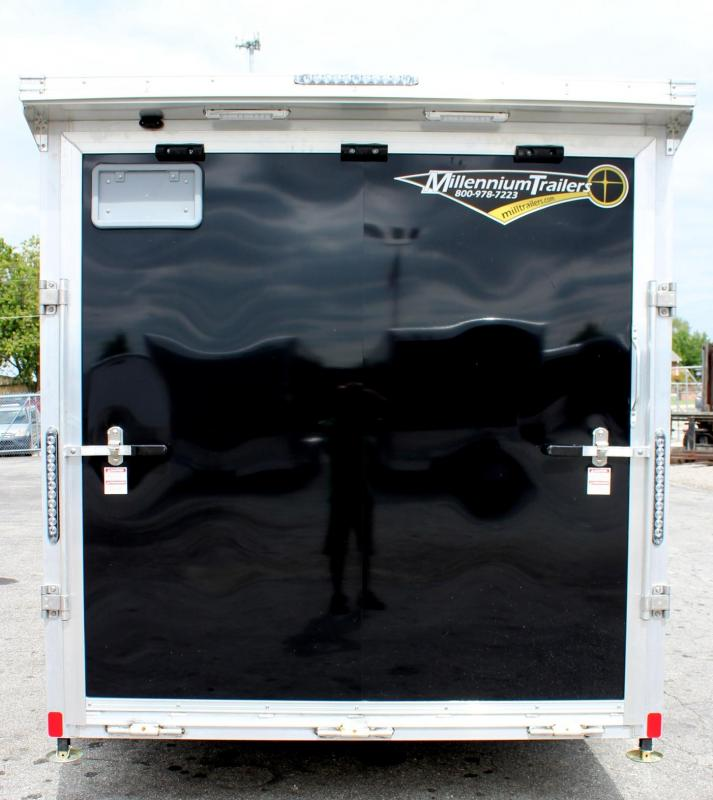 ALUMINUM FRAME 7' x 14' Motorcycle Trailer 3-Packages  Just Add Bikes!