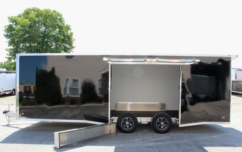 <b>Wide Car? Look at This! Call for Availability</b> 24' Black Aluminum Millennium Extreme Lite with Removable Fender
