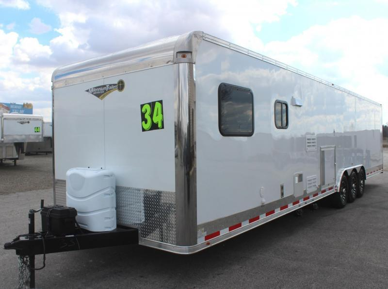 "<b>AVAILABLE NOW</b> 2020 34' Millennium 12'XE Living Quarters 21' 6"" Cargo Area /12"" Ext High/Rear Wing/ALL LED"