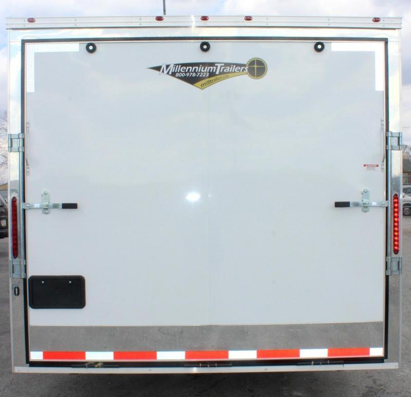 """<b>AVAILABLE NOW</b> 2020 34' Millennium 12'XE Living Quarters 21' 6"""" Cargo Area /12"""" Ext High/Rear Wing/ALL LED"""