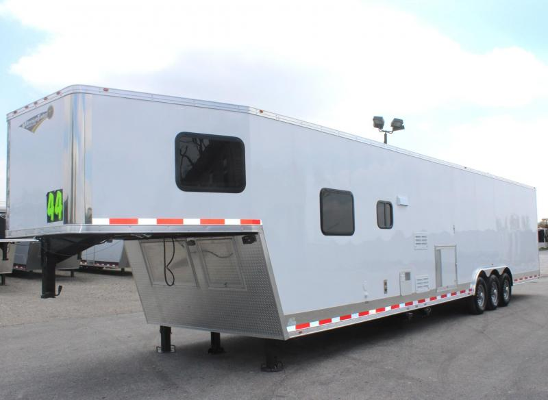 <b>SALE PENDING</b> 2019 44' Millennium 12'XE Living Quarters Trailer Tapered Nose