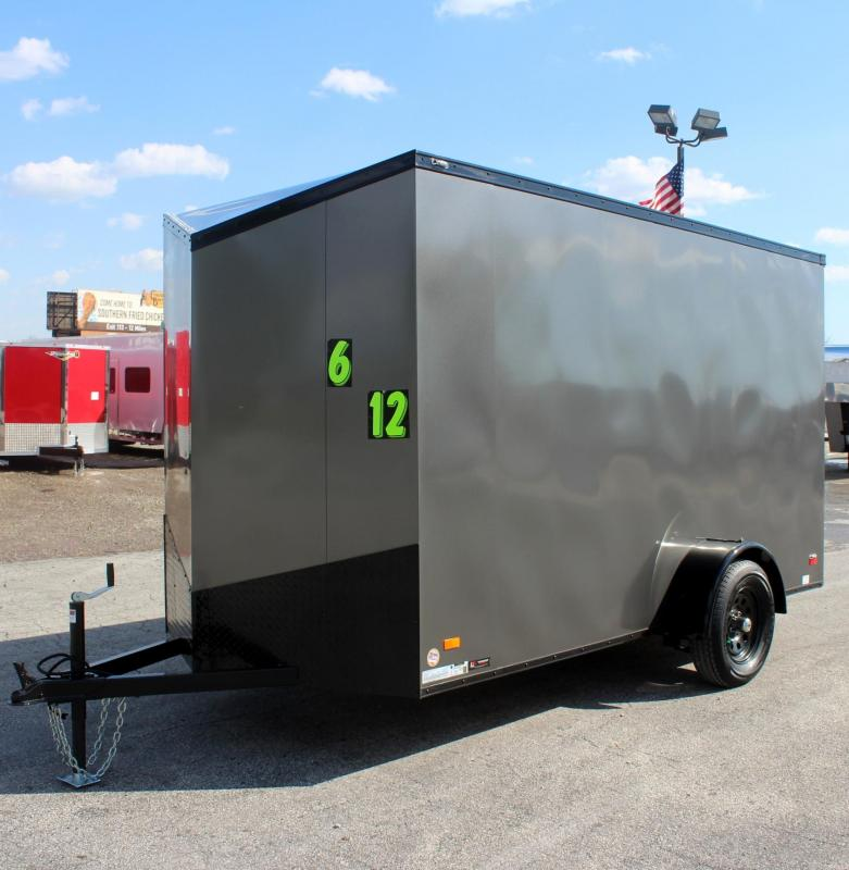 "<b>Black-Out Pkg</b>  6' x 12' Scout Cargo Trailer 6"" Extra High"