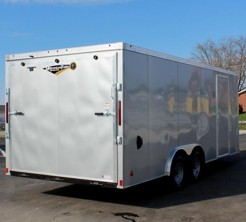 GREAT VALUE NOW READY! 2021 20' Transport V Car Trailer w/Heavy Duty 5200# Axles & Screwless Exterior