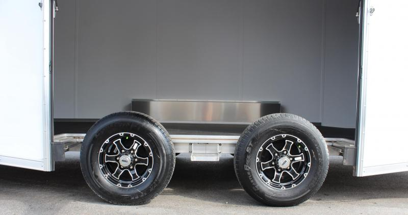 <b>CYBER WEEK SALE SAVE $2571</b> Wide Car? Look at This! 24' White Aluminum Millennium Extreme Lite with Removable Fender