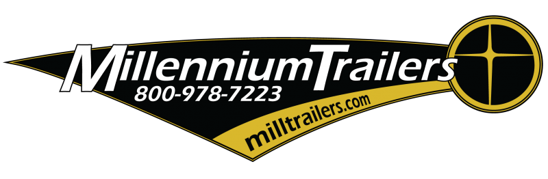 <b>READY SOON</b>  2021 40' Millennium Silver Enclosed Gooseneck Trailer w/12' Sofa Living Quarters/King Size Bath