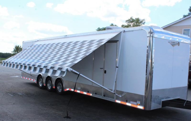 Pre-Owned w/Bathroom 2018 34' Auto Master Race Trailer
