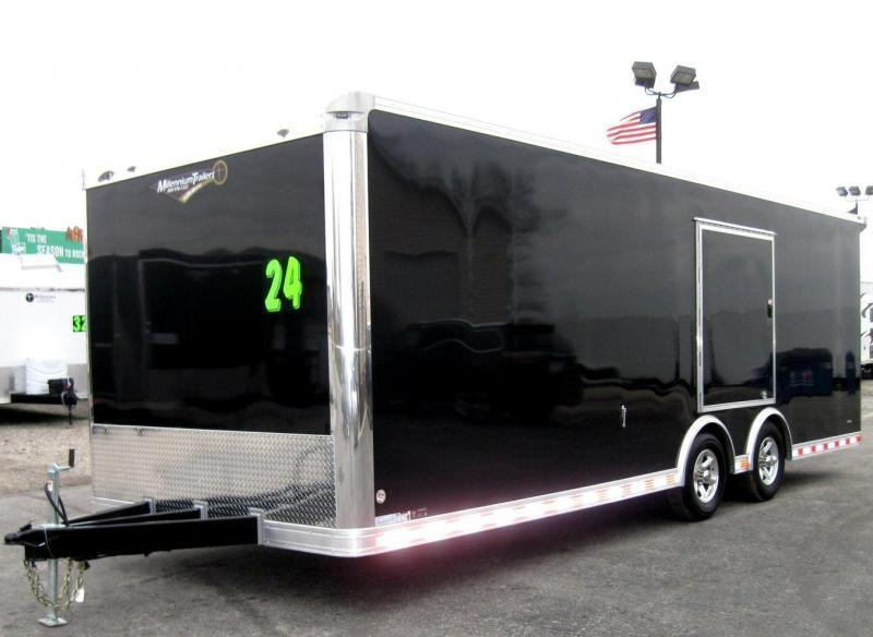 24' Millennium Extreme Race Car Enclosed Trailer w/Rear Wing & Escape Door