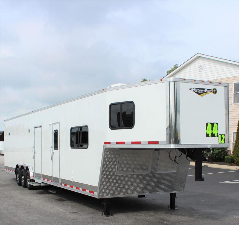 Stay at the Track in Comfort 2020 44' Millennium Silver Premium 12'S + 8' Living Quarters