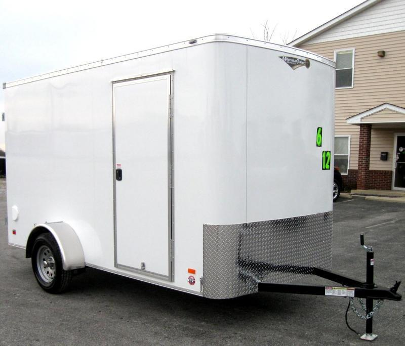 """6'x12' Scout Double Door Cargo 6"""" Extra High PLUS Free Upgrades"""