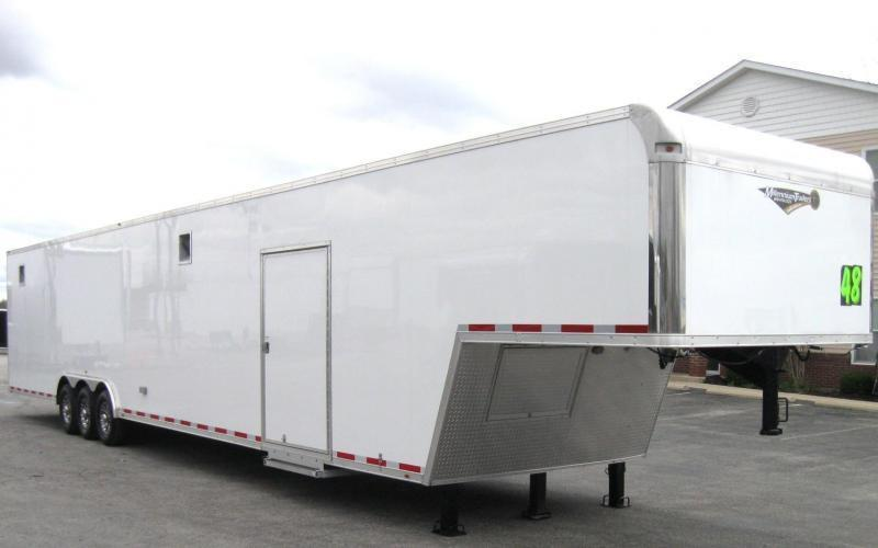 2020 48' Millennium Silver Enclosed Gooseneck Trailer