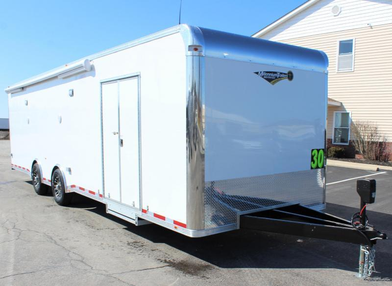 <b>NOW READY</b> 2021 30' Millennium Platinum Car Trailer Electric Awning & A/C + MORE