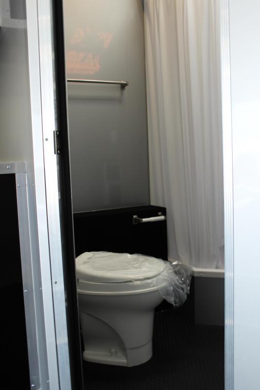 <b>IN PROCESS SPECIAL</b> Full Bathroom/ Electric Awning & A/C SUPER SHARP 2022 34' Millennium Platinum Race Trailer