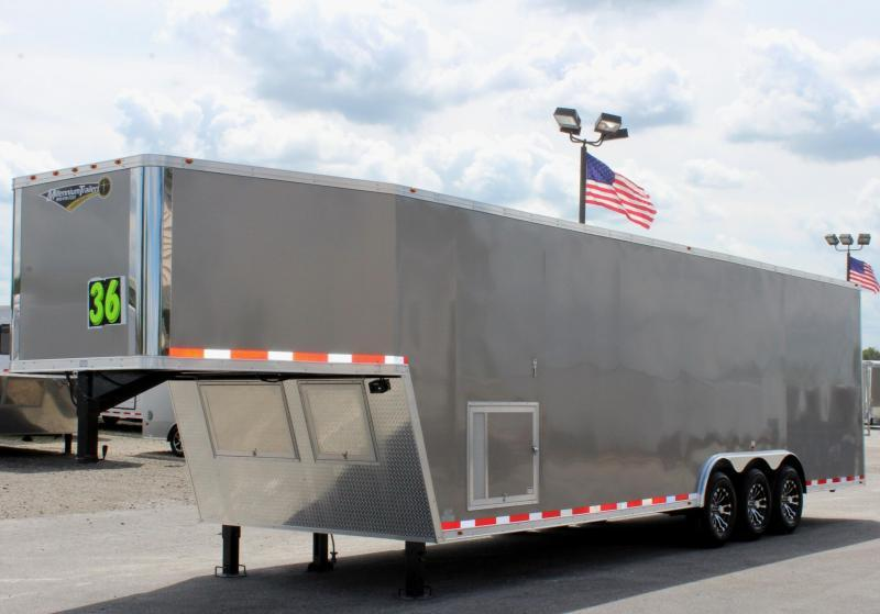 <b>AVAILABLE</b> 2020 36' Millennium Silver GN Pewter Screwless Exterior Loaded Out!