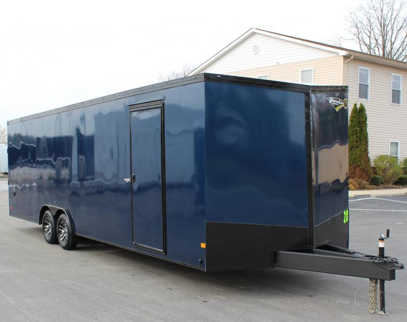<b>CYBER WEEK SALE SAVE $1000</b> SHARP INDIGO BLUE w/BLACK OUT PKG 2021 28' Transport