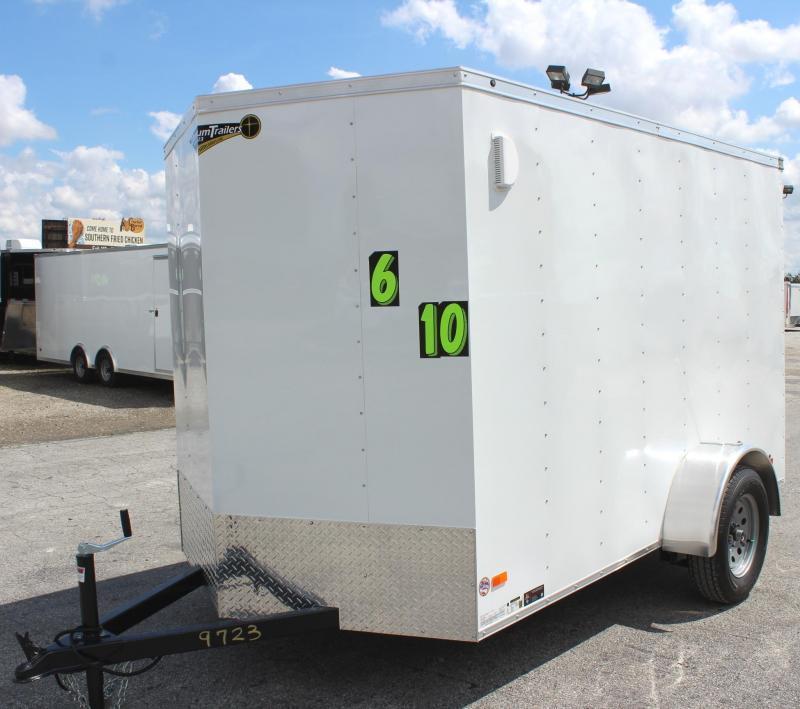 <b>READY DEC.</b> 2022 6'x10' Hero Economy Cargo Trailer w/Ramp Door