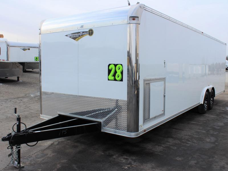 <b>READY FOR YOUR NEW RACE SEASON</b> 2022 28' Millennium Silver Car / Racing Trailer