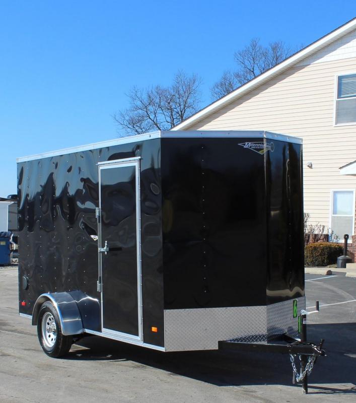 <b>SOLD</b> 6'x12' Hero Enclosed Cargo Trailer Ramp Door & 6