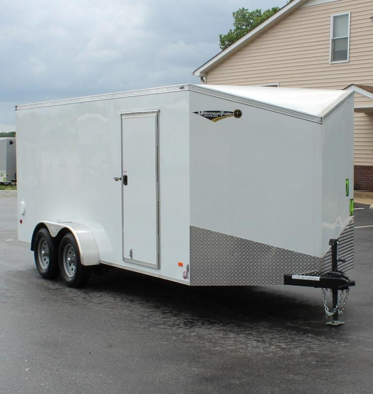 7' x  16'  Scout Screwless Cargo w/Ramp Door Free Options