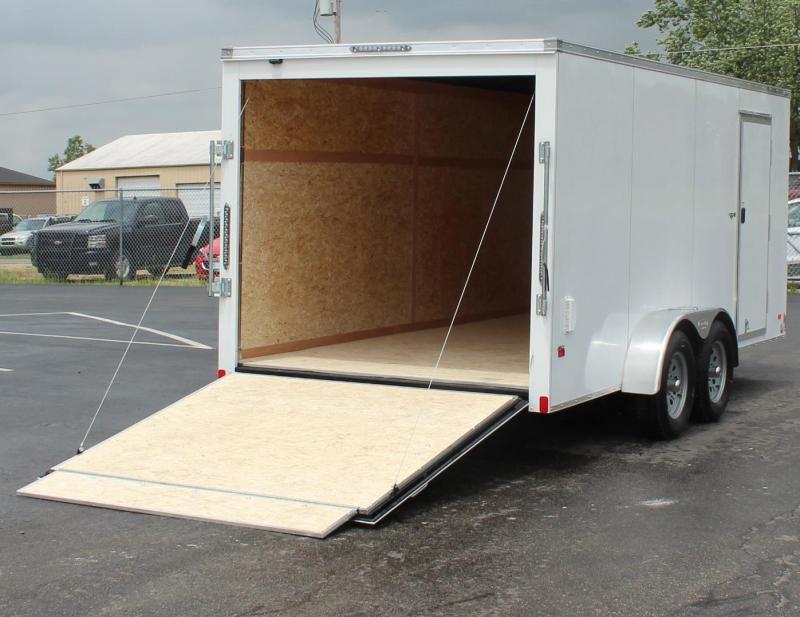 7' x  16'  Scout Screwless Cargo w/Ramp Door Free Options