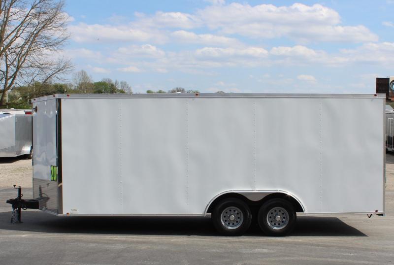 <b> READY IN JULY </b>20' 2022 Millennium Chrome Enclosed Trailer Heavy Duty Axles