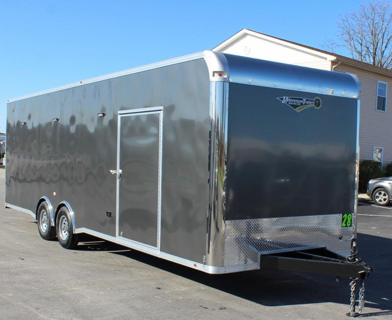 NOW READY! CHARCOAL EXTERIOR  2021 28' Millennium Silver w/Spread Axles