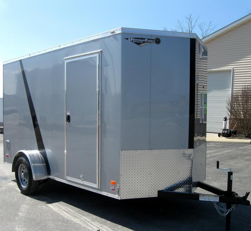 6'x12' Scout Cargo Trailer Silver 2/Tone Trimmed Black 6