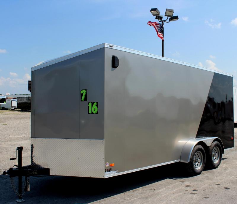 7'x16' Scout Enclosed Cargo Trailer with Plus Pkg.