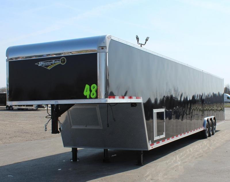 "<b>SOLD & MAKING MORE!</b> 2022 48' Millennium Platinum Enclosed Car Trailer 12"" Extra High"
